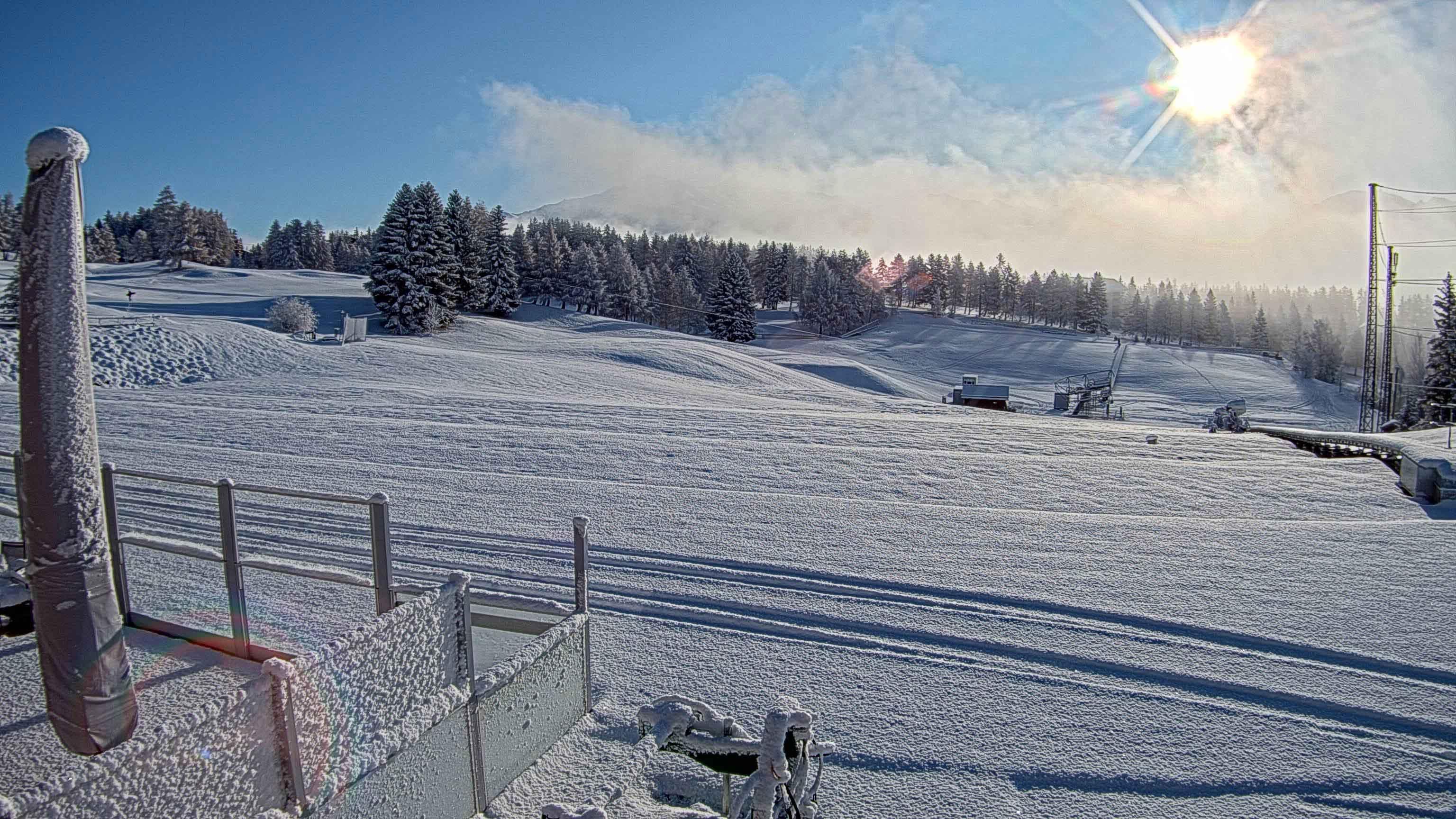 Crans-Montana après les chutes de neige